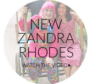 watch the zandra rhodes collaboration video here