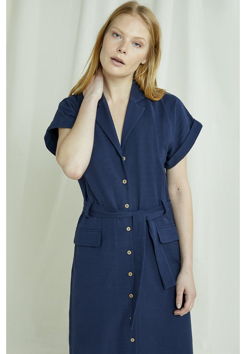 Ada Dress In Navy 12