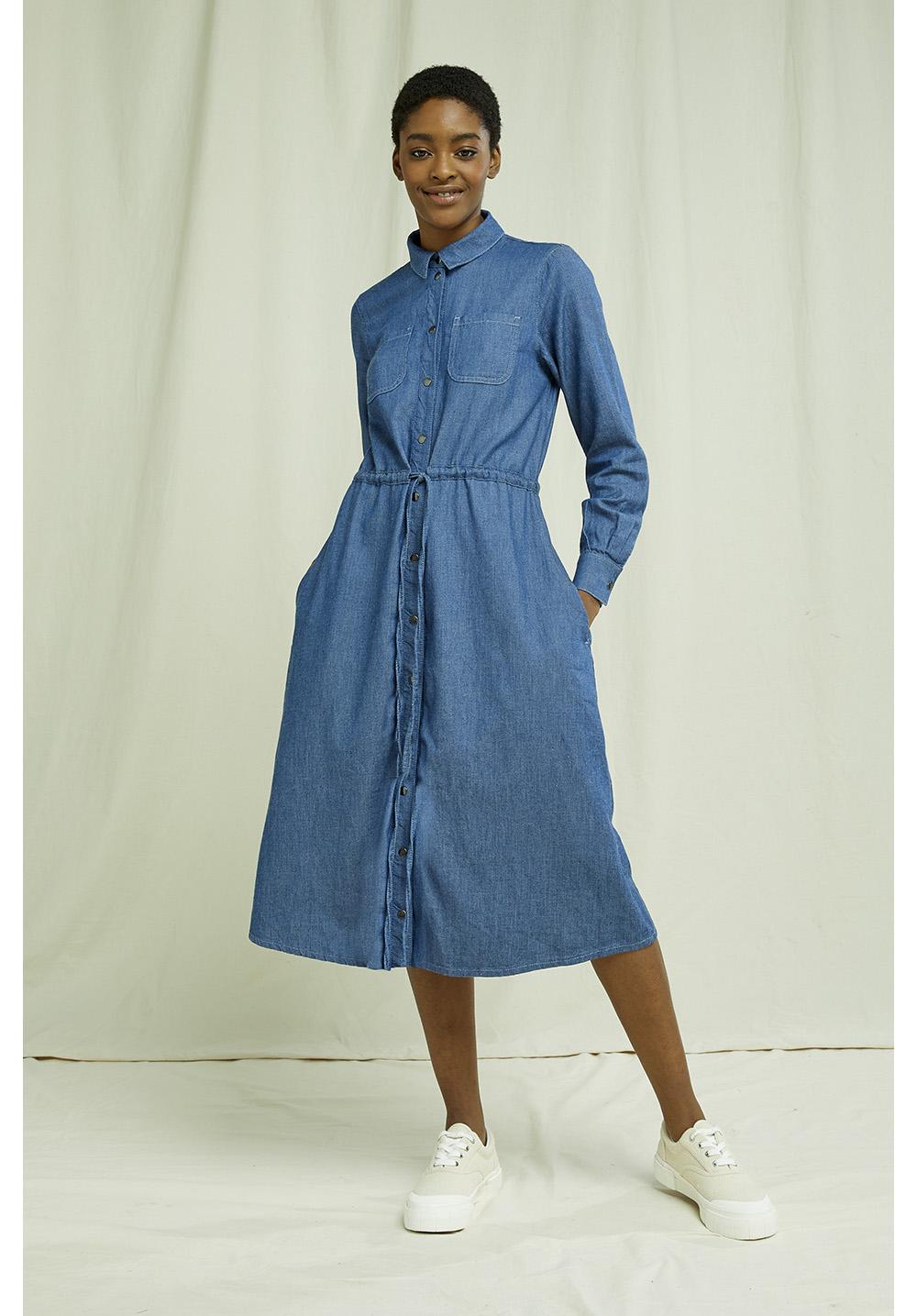 Annie Lightweight Denim Dress