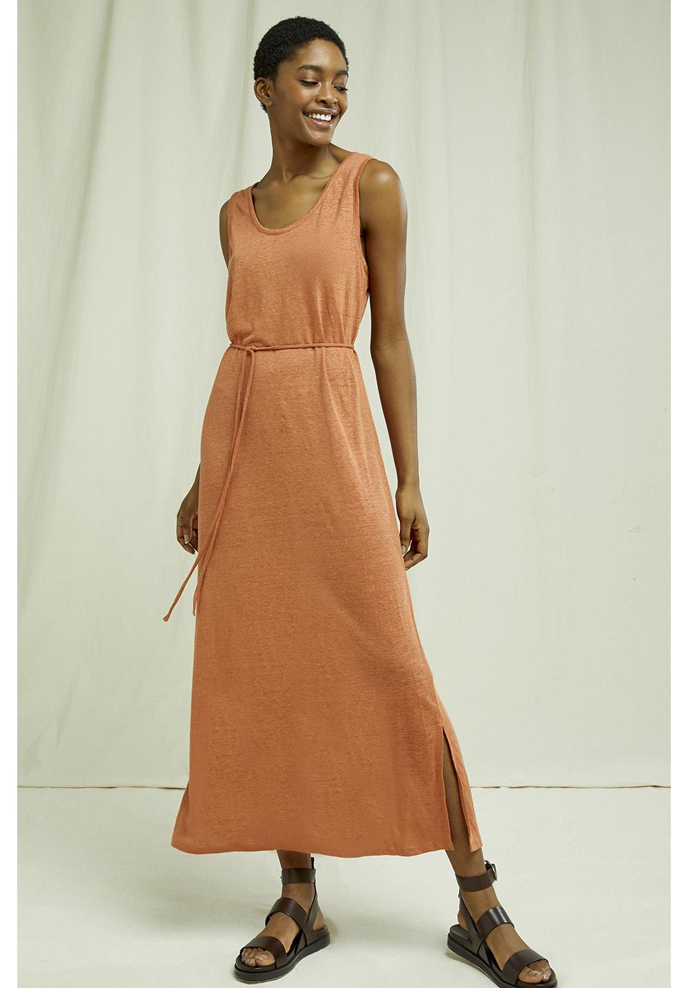 Arden Linen Sleeveless Dress 8