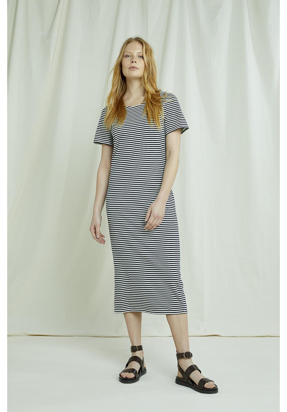 Darika Stripe Dress In Navy 16
