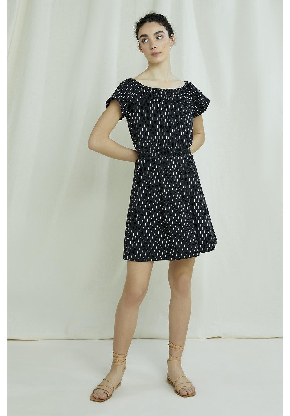 Ingrid Ikat Print Dress