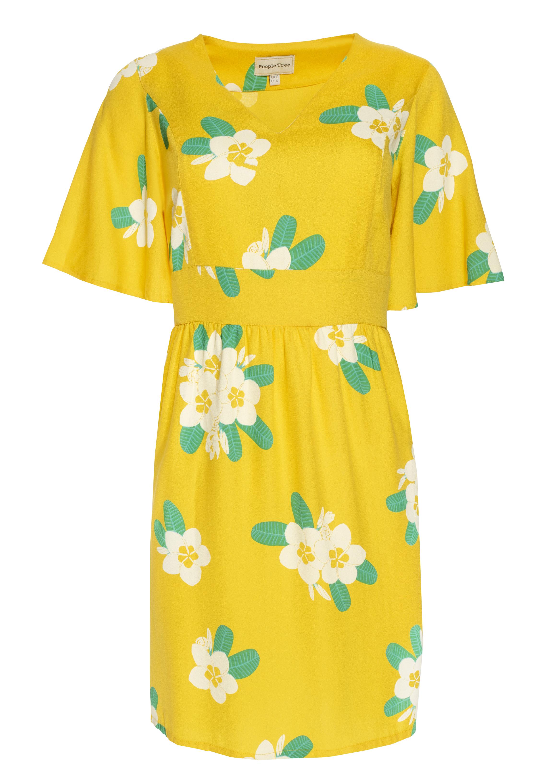 Marina Plumeria V-neck Dress