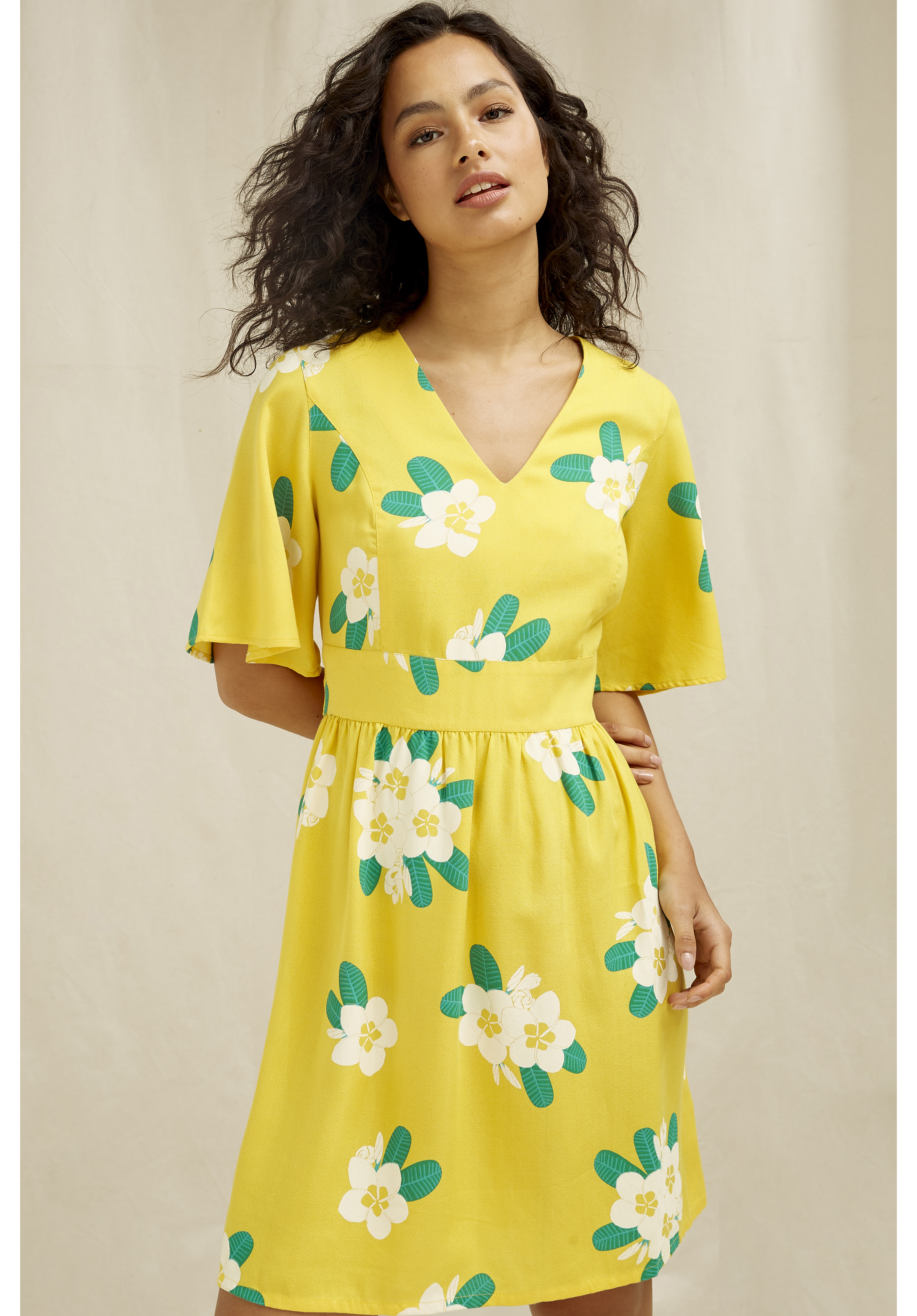 Marina Plumeria V-neck Dress 16