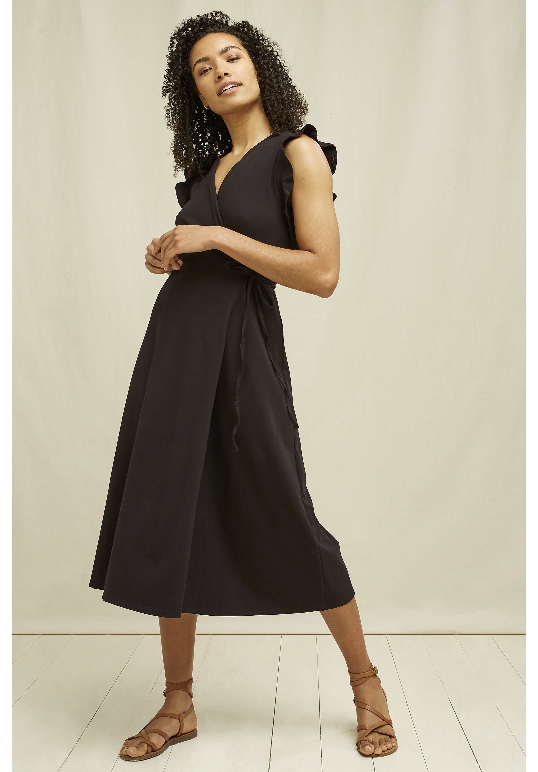 Melanie Wrap Dress in Black 14