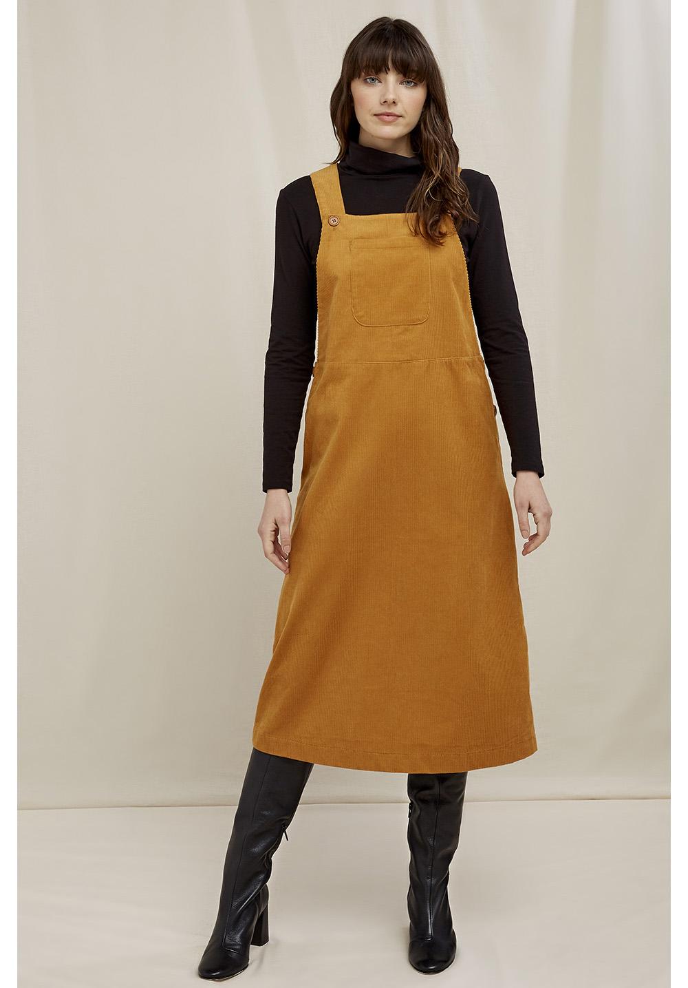 Mindy Corduroy Pinafore Dress 8