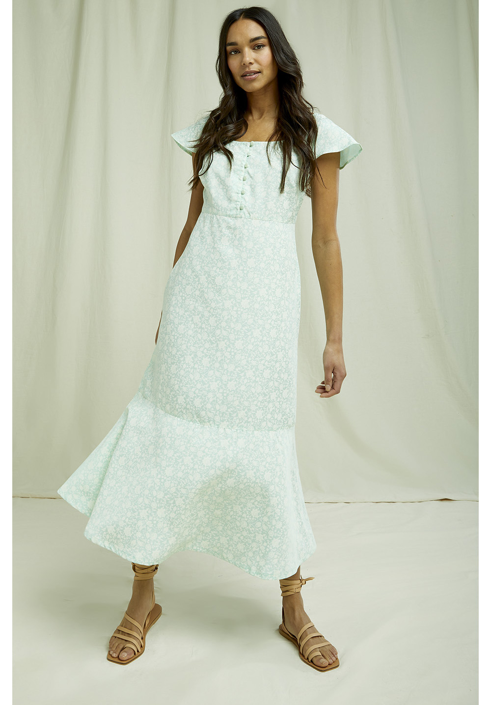 Pippa Silhouette Floral Dress