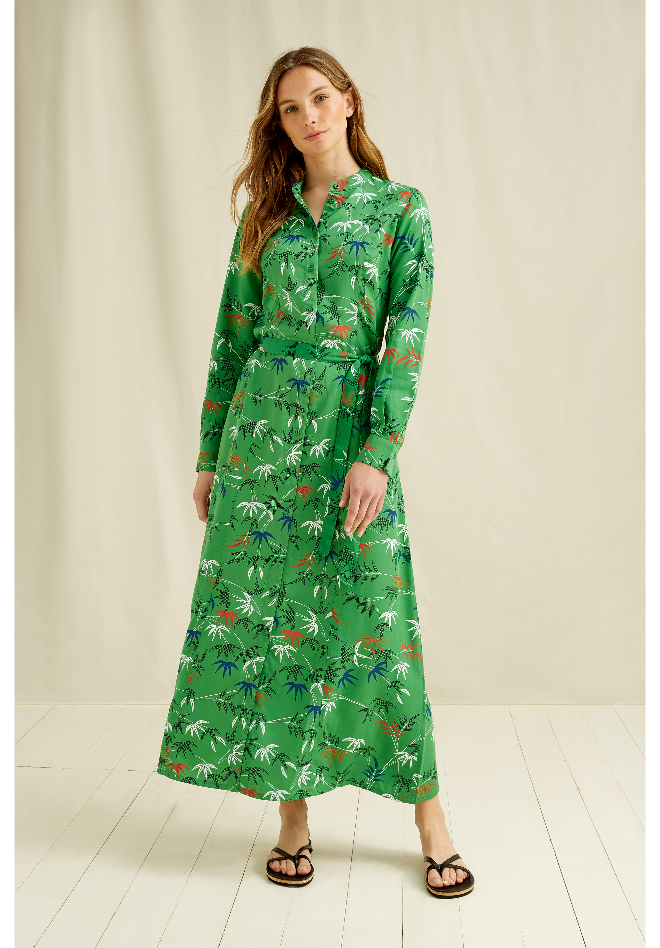 V & A Bamboo Print Shirt Dress