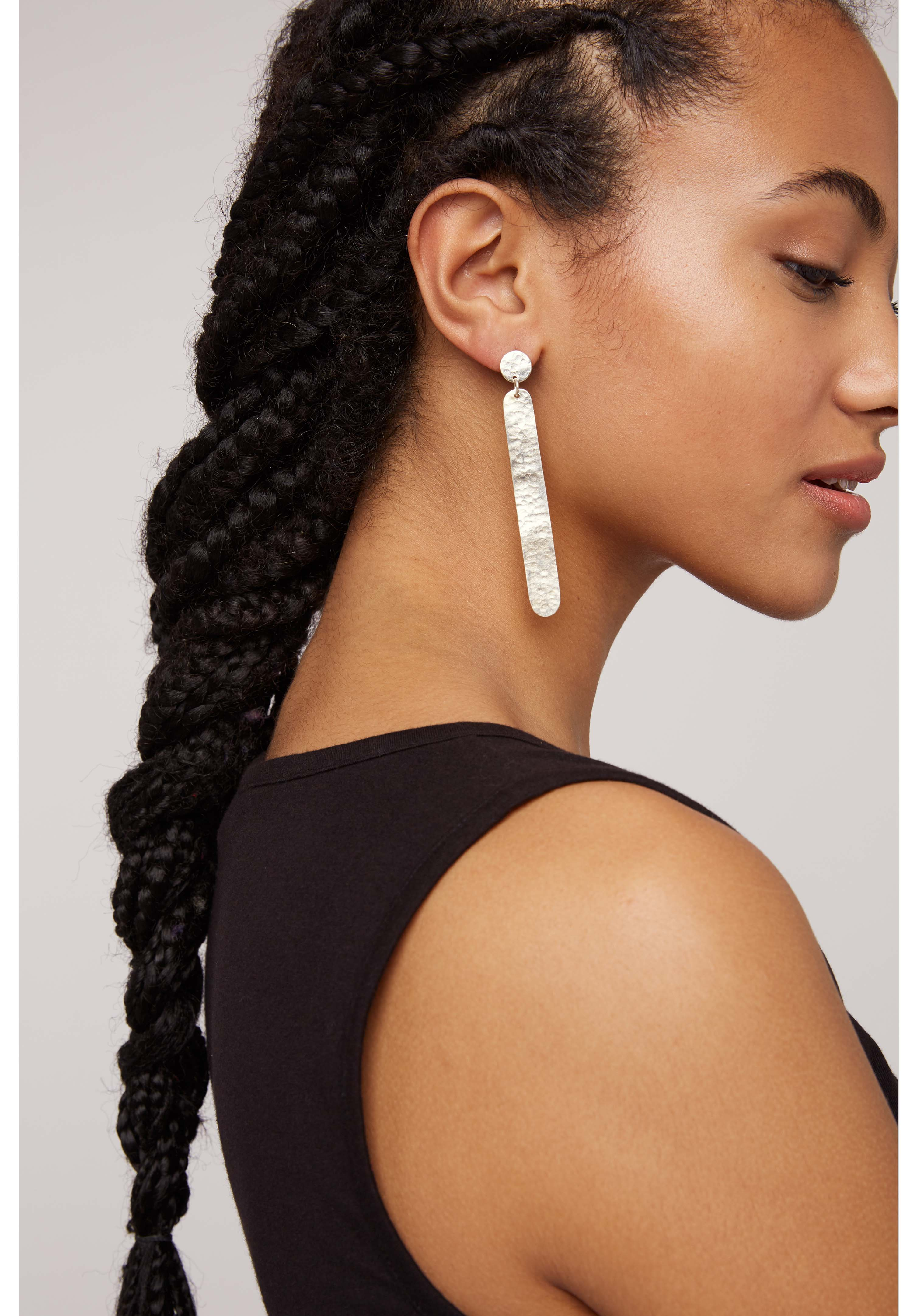 Dot Dash Earrings in Silver
