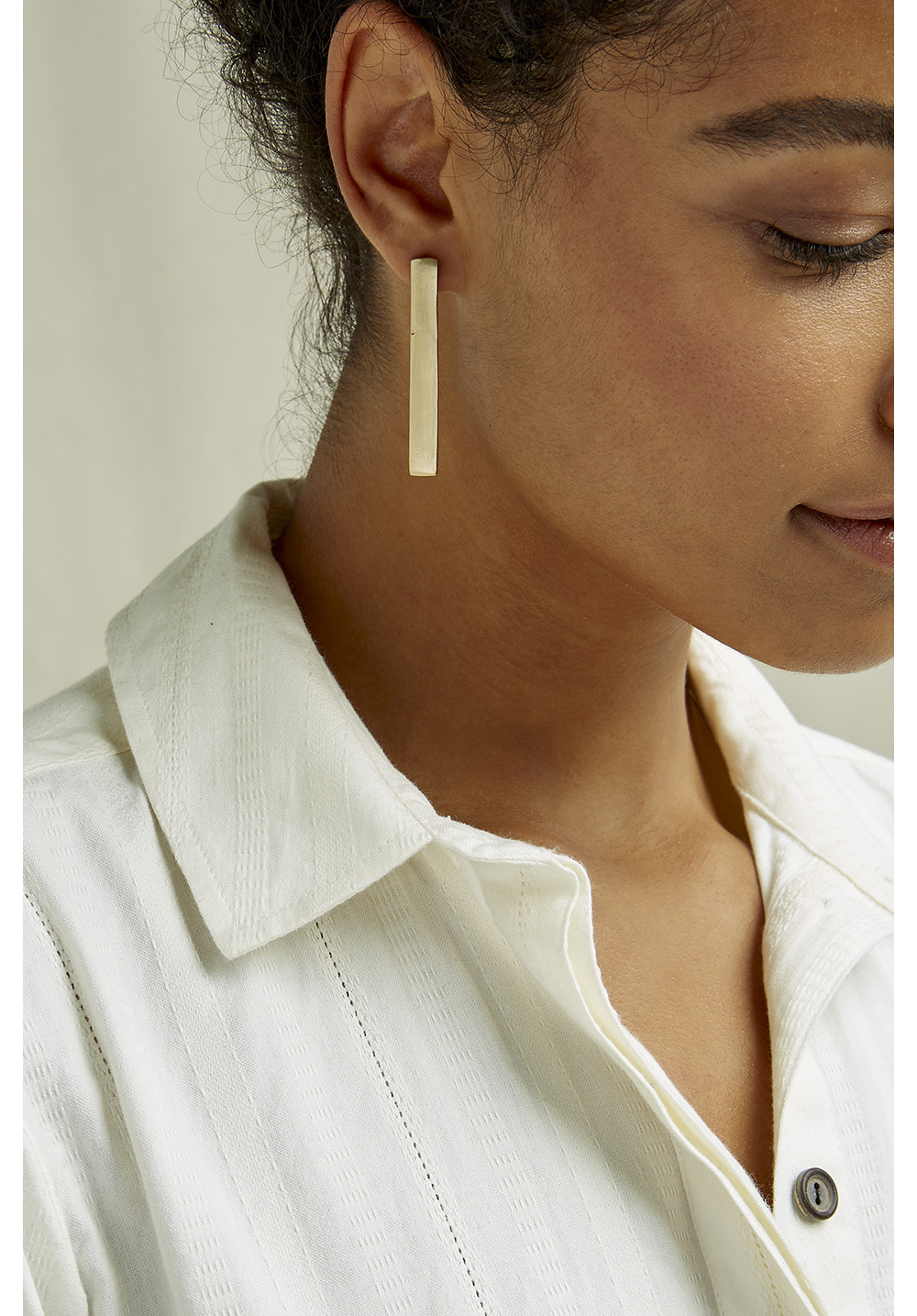Long Bar Earrings - Brass