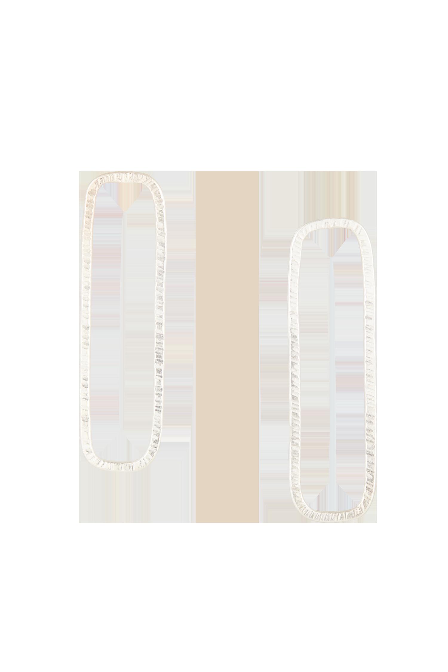 Rectangle Earrings in Silver