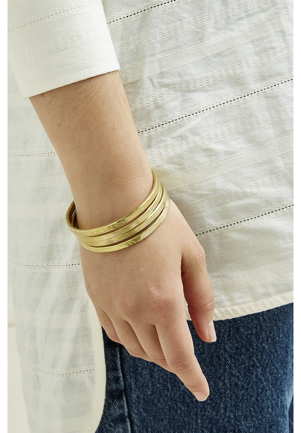 Stackable Bangles (set of 4) - Brass