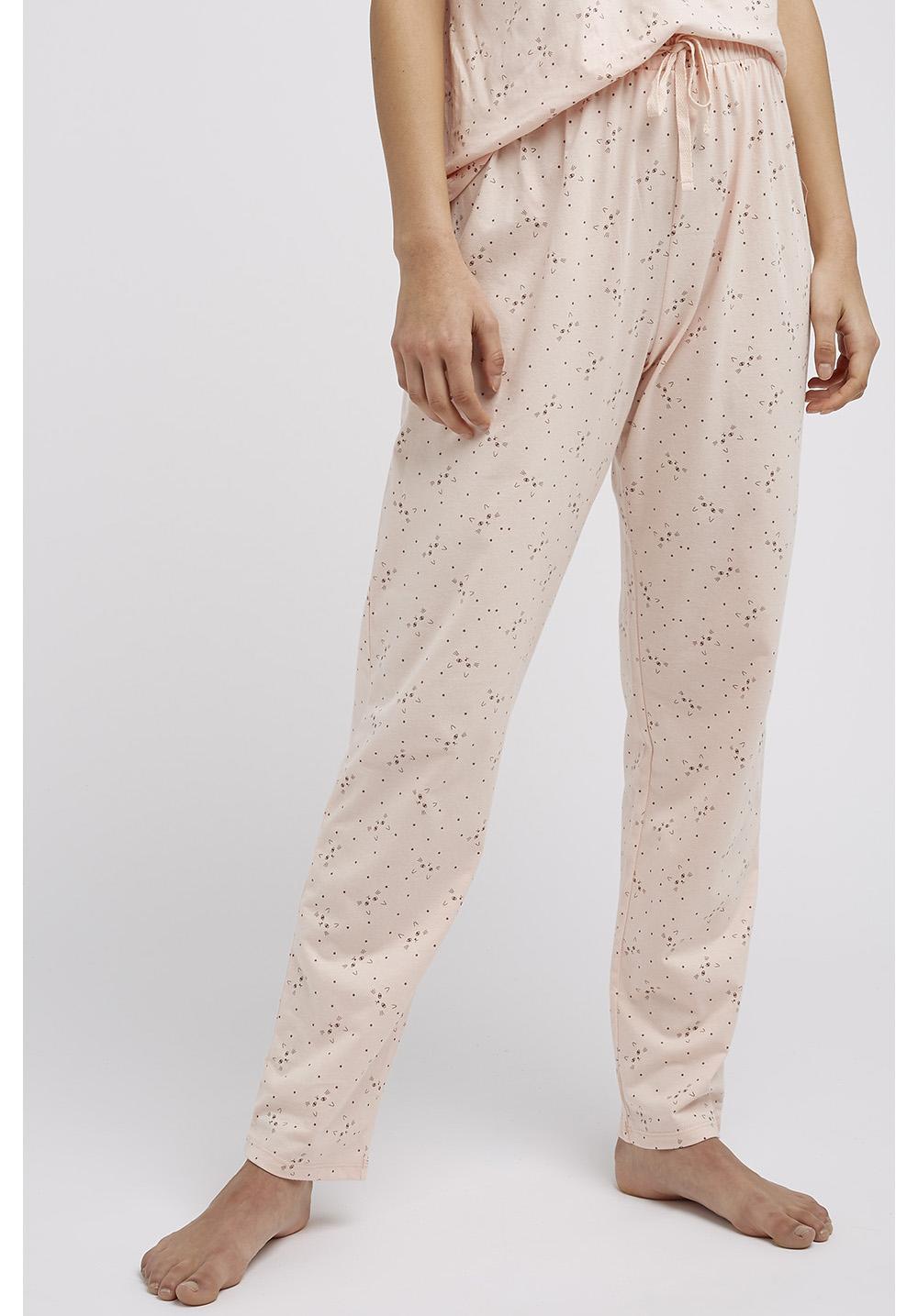 Cat Print Pyjama Trousers in Pink 12