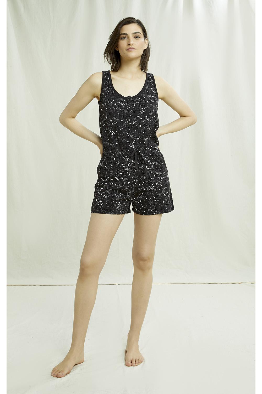 Stars Pyjama Shorts in Black 12