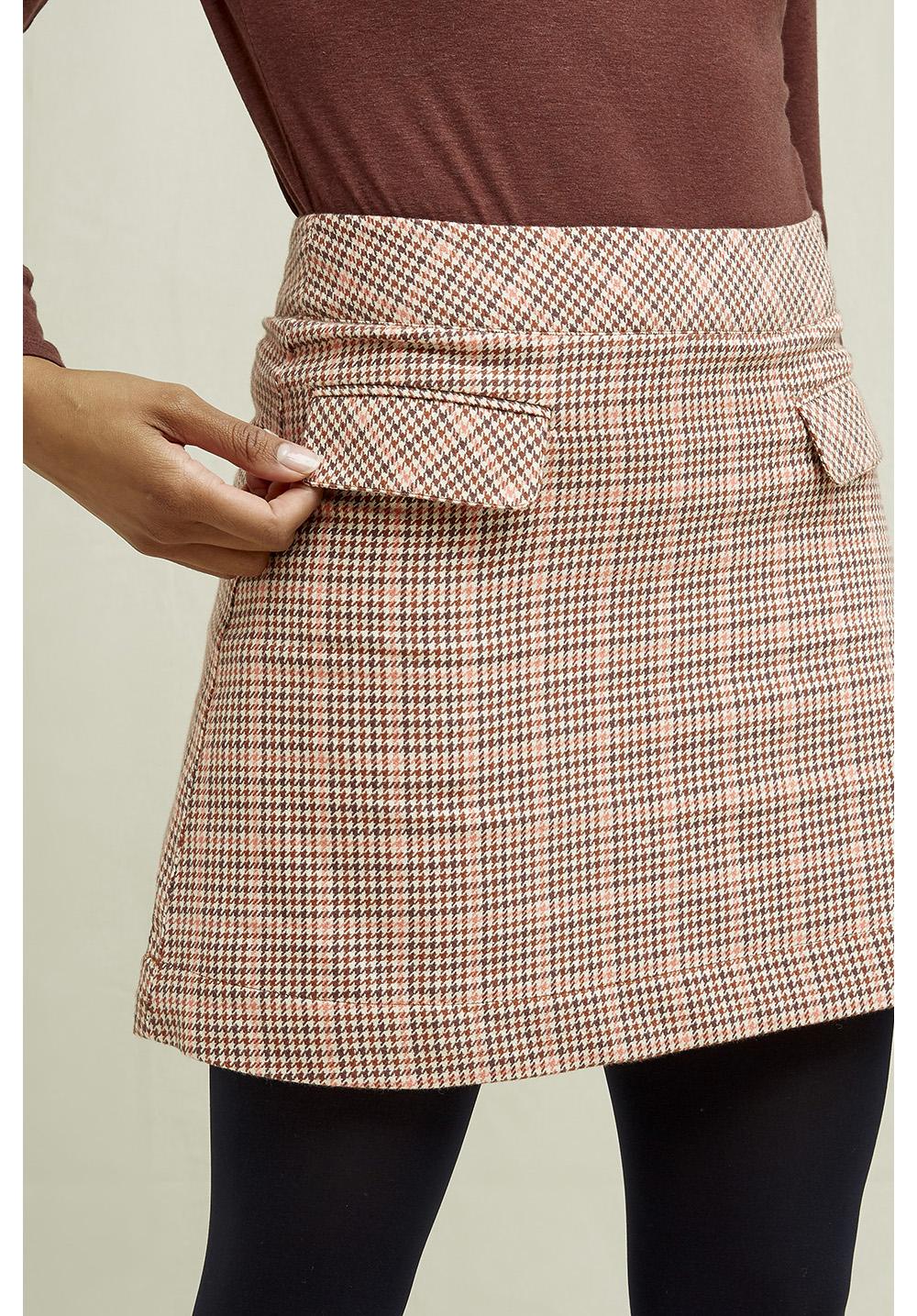 Rosa Houndstooth Skirt 14