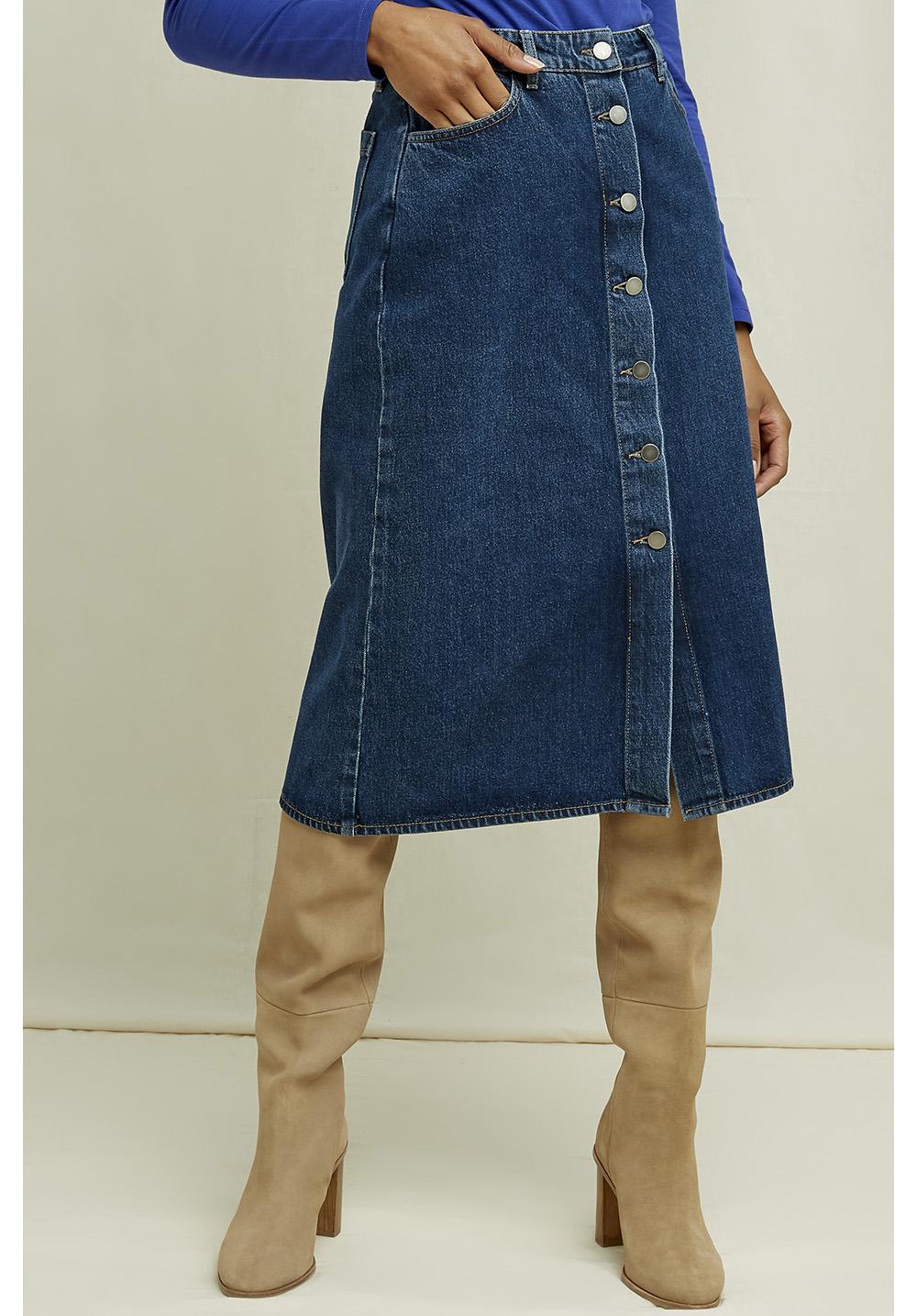 Stacey Denim Midi Skirt 12
