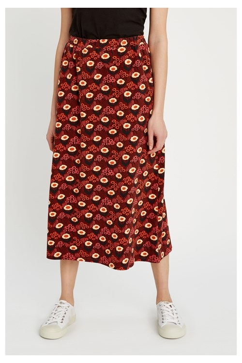 Red Daisy Skirt