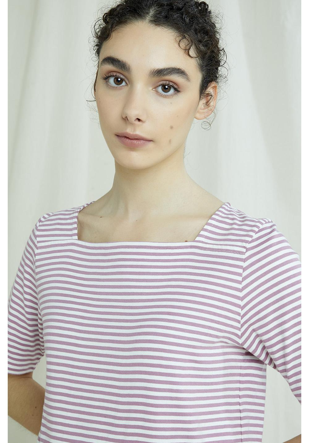 Abigail Stripe Top In Pink 12