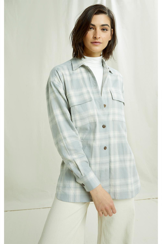 Carina Checked Shirt in Grey Check 12