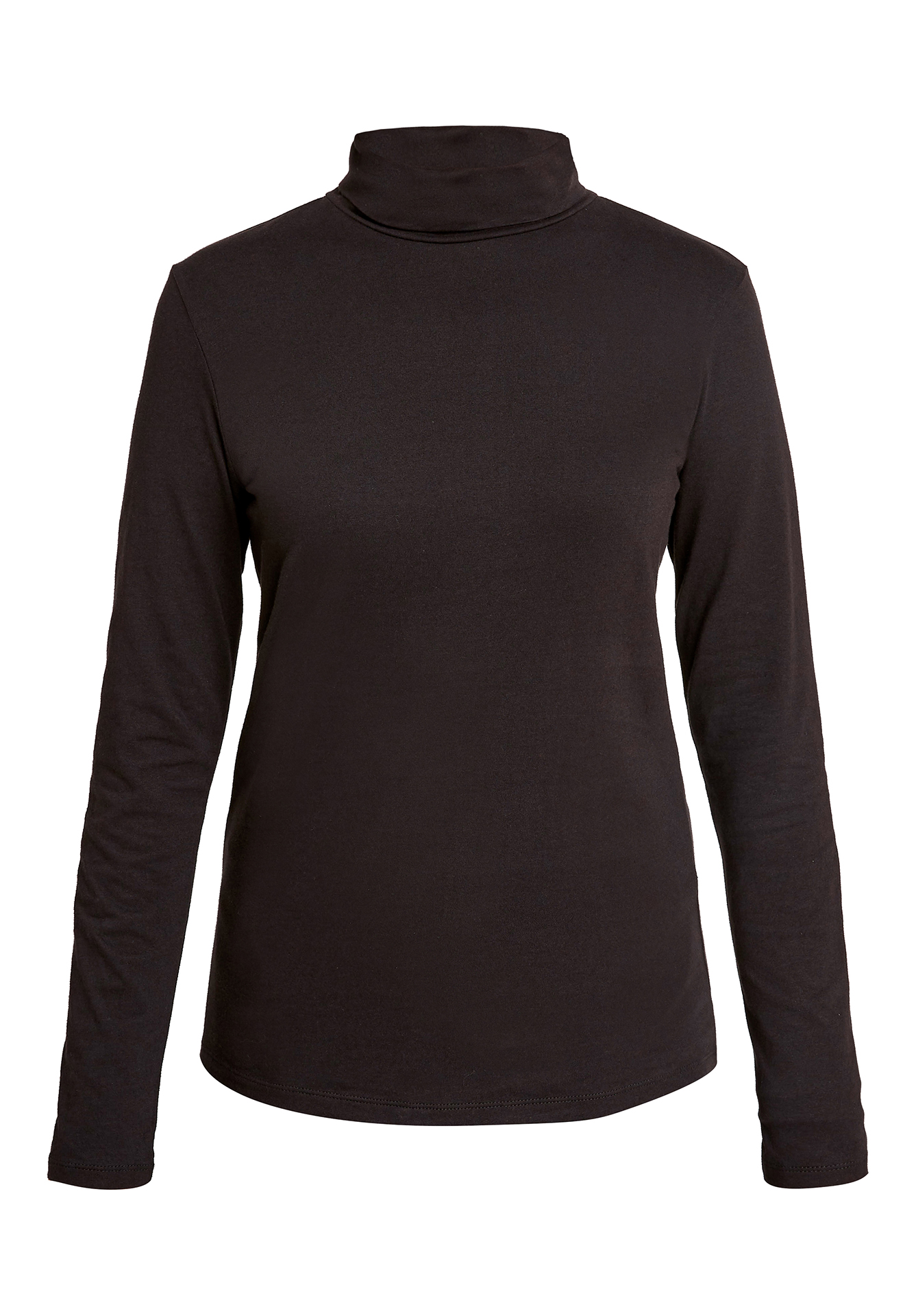 Laila Roll Neck Top in Black 16