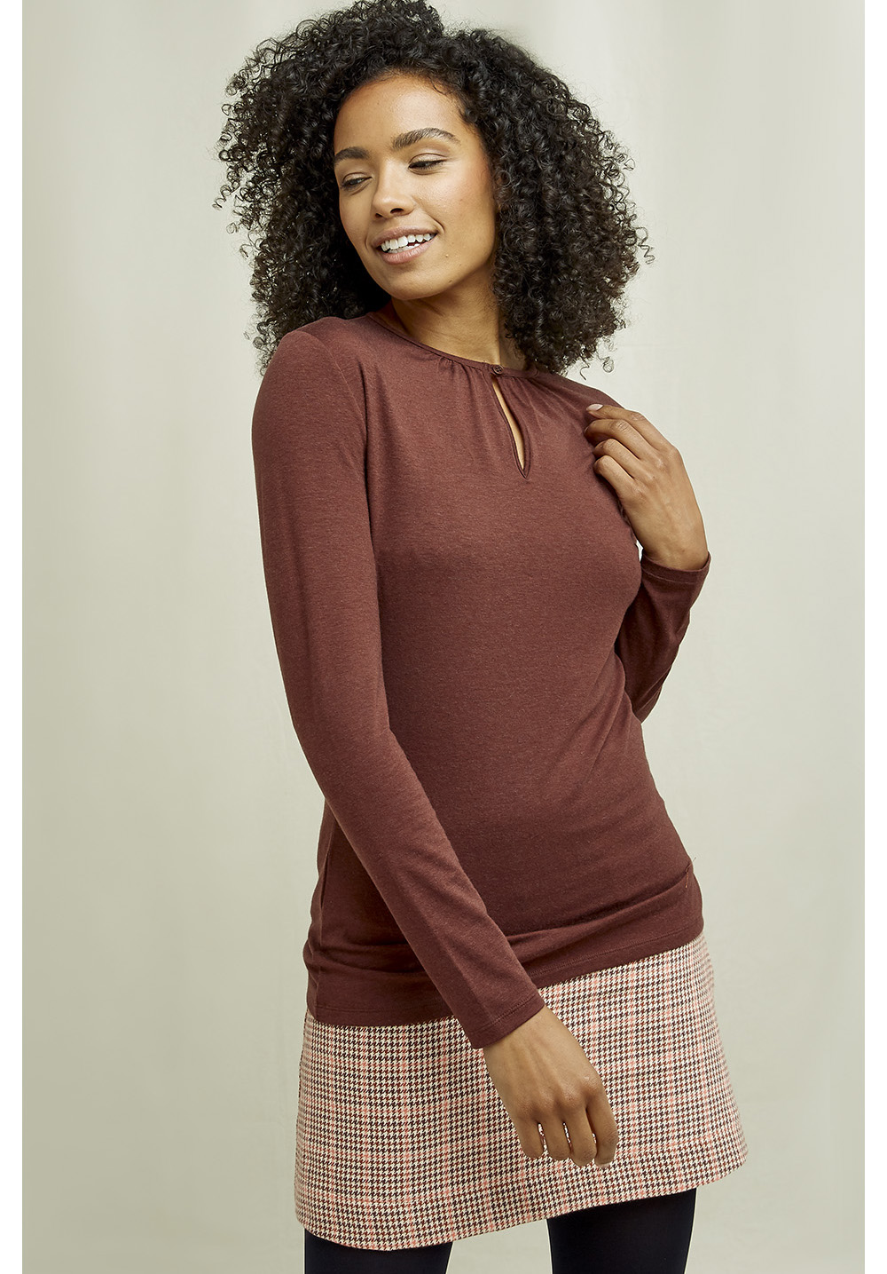 Lumi Top In Brown 10