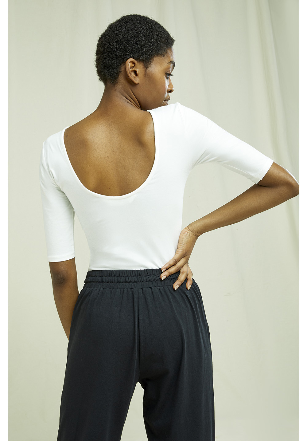 Nicole Bodysuit in Eco White