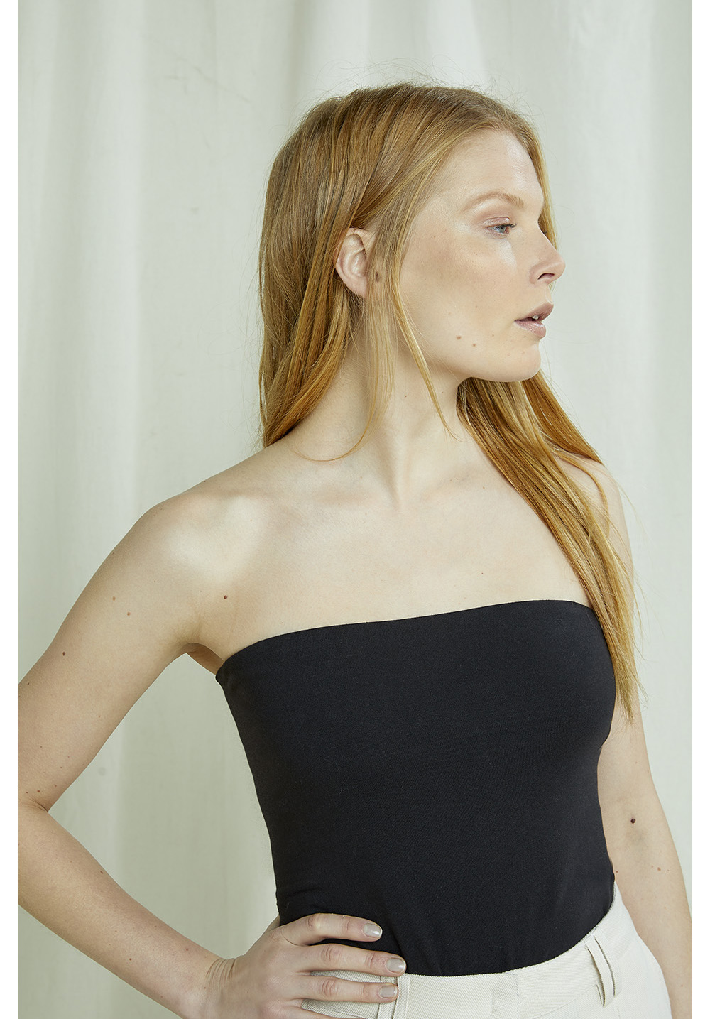 Sofia Bandeau Top In Black 14