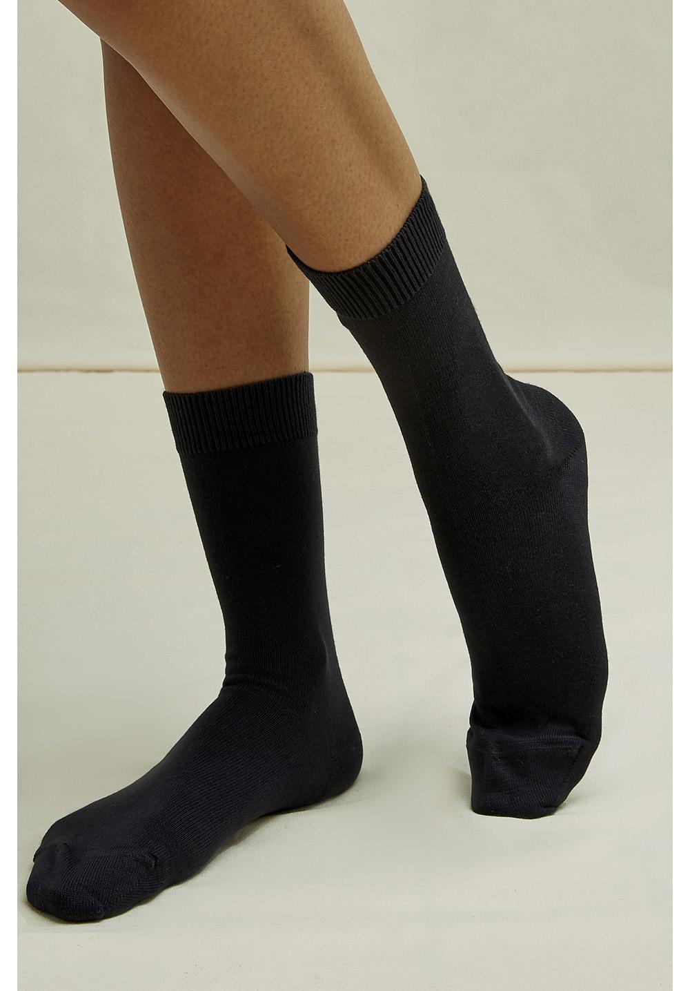 Organic Cotton Socks in Black