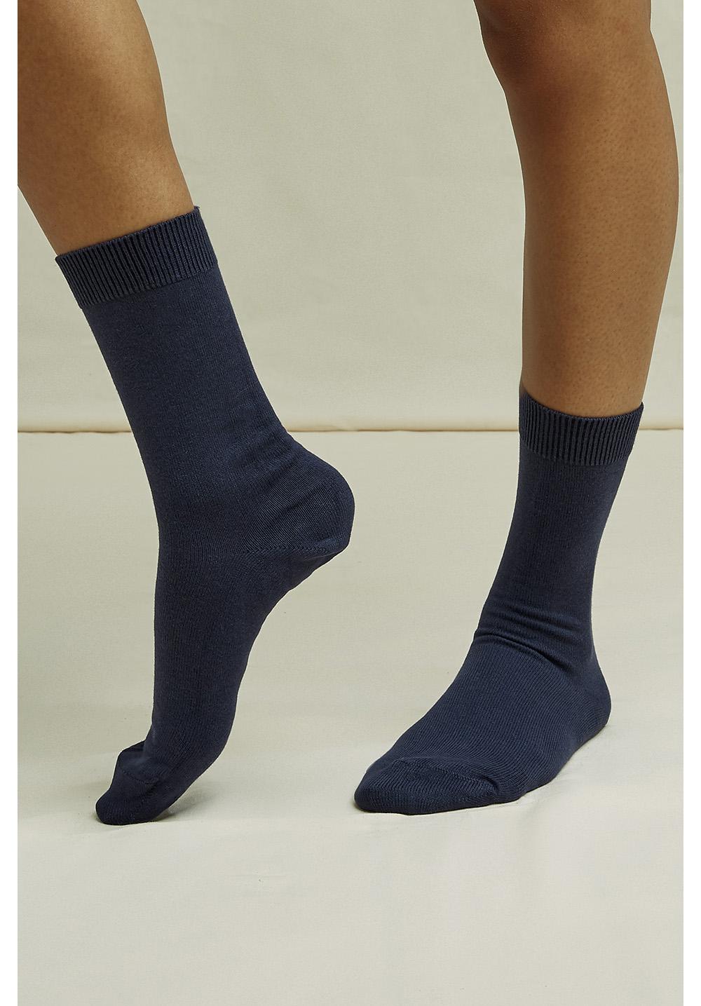 Organic Cotton Socks in Navy 35-38