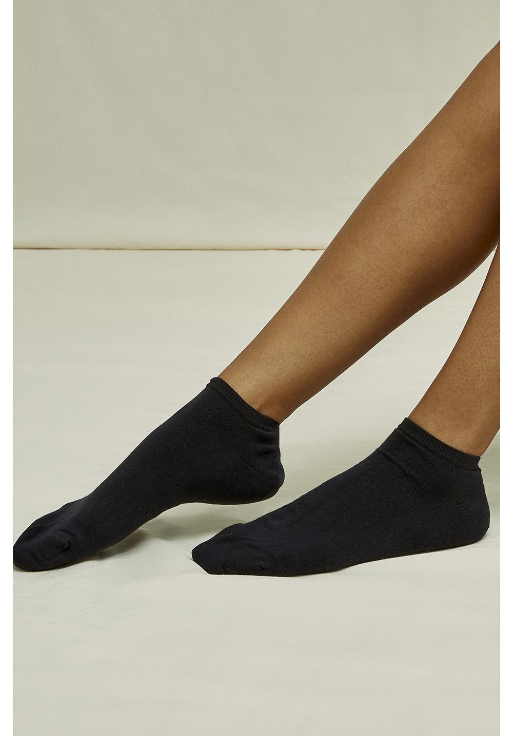 Organic Cotton Trainer Socks in Black