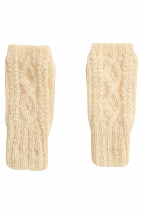 Cable Fingerless Gloves from People Tree
