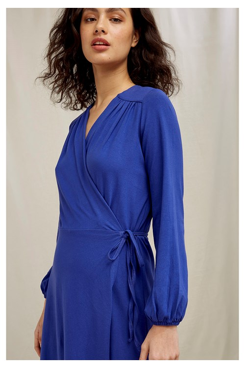 Inga Wrap Dress In Royal Blue