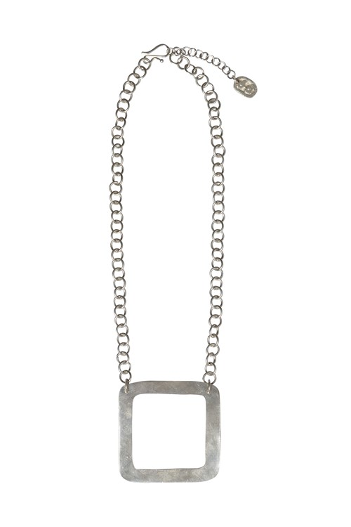 Square Necklace Silver from People Tree