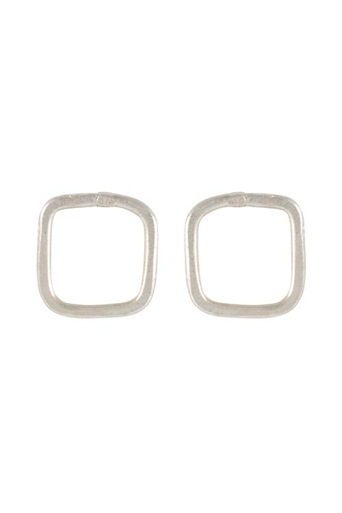 Square Stud Earrings Silver
