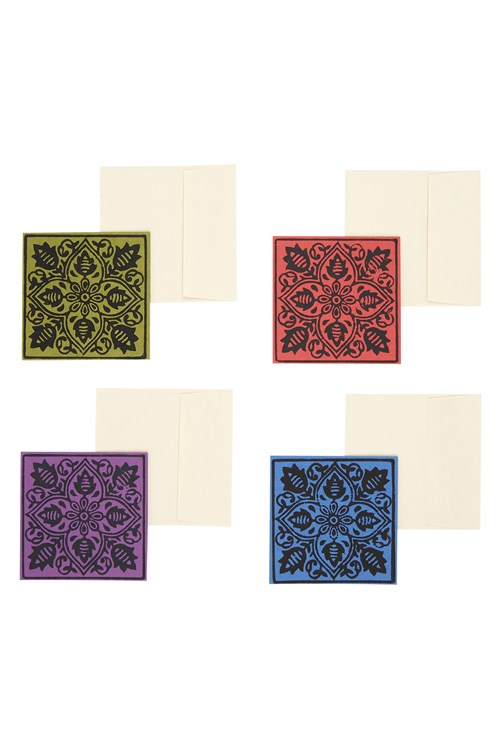 Baroque Print Greeting Card (Set Of 4)