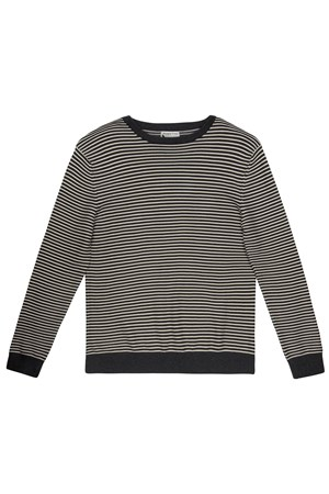 Enzo Stripe Jumper in Grey multi