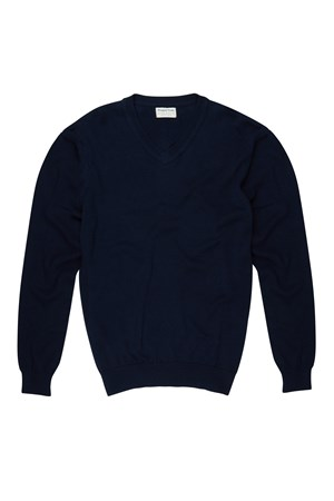 Ridley V-Neck Jumper in Navy