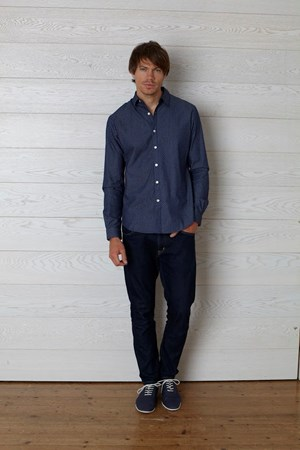 Arlo Dot Shirt in Blue