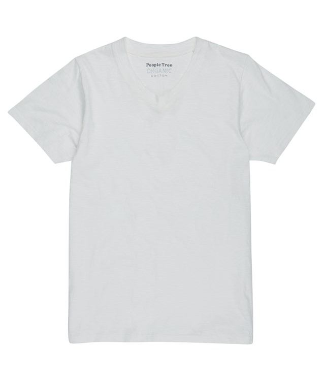 Austin V-Neck Tee  in White