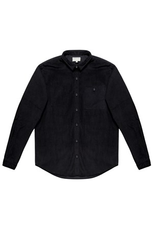 Cole Corduroy Shirt in Black