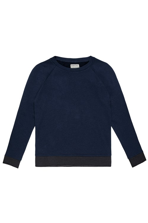 Haden Sweatshirt in Dark blue melange from People Tree