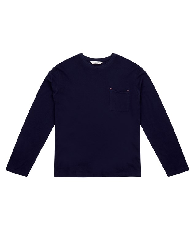 Men's Hector Long Sleeve Top in Navy