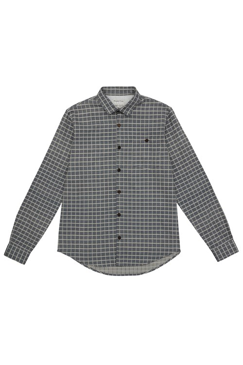 James Check Shirt  in Navy check