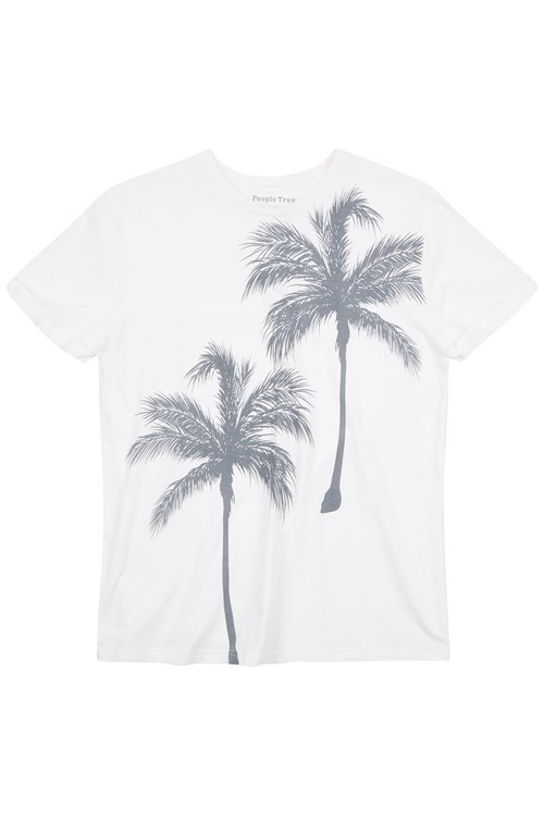 Men's Palm Tree Tee in White