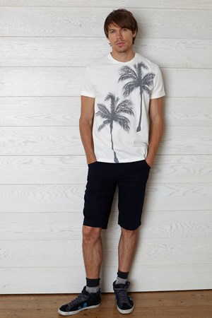 Palm Tree Tee in White