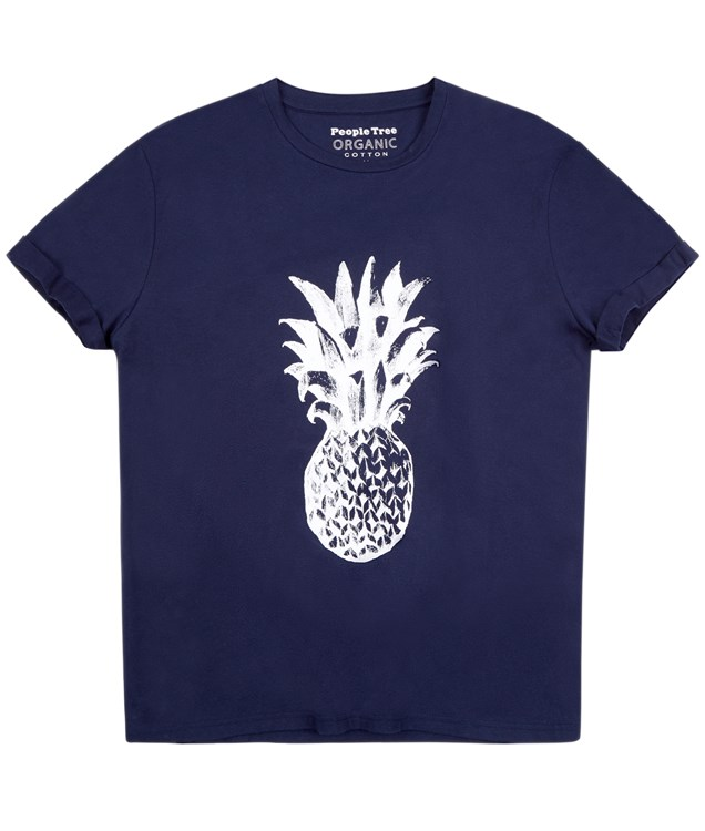 Pineapple  Tee in Navy