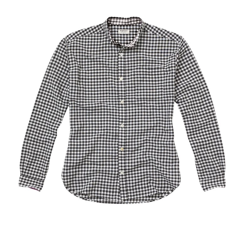George Gingham Shirt in Black