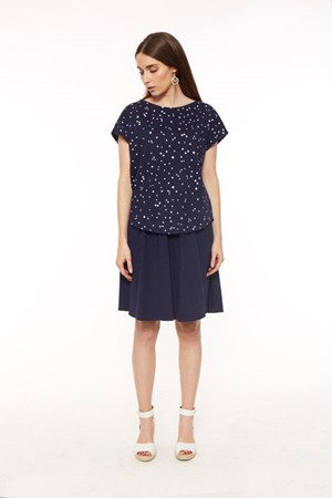 Clio Top in Navy