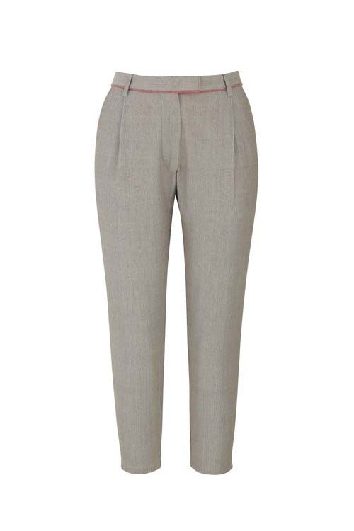 Sherry Cropped Trousers  in Beige