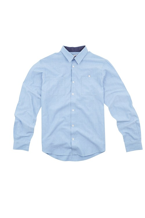 Matthew Chambray Shirt in Blue